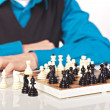Stock Photo: Chess game on white background