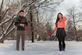 Coppia di asiatici in amore — Foto Stock