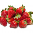 Strawberries isolated on a white studio background. — Stock Photo #16890967