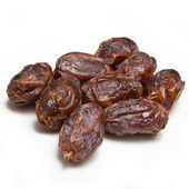 Medjool dates isolated on a white studio background. — Stock Photo
