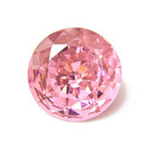 Singe pink crystal diamond — Stock Photo