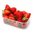 Box or punnet of strawberries — Stock Photo #40075785
