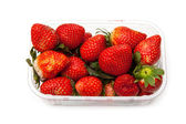 Box or punnet of strawberries — Stock Photo