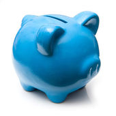 Blue piggy bank money box. — Stock Photo