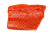 Wild Alaskan Sockeye or Coho Salmon fillet. — Stock Photo