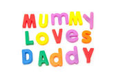 Mummy loves Daddy — Stock Photo