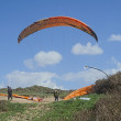 A camp of Para-gliders. — Stock Photo