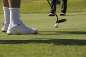 Jogo de golfe — Fotografia Stock