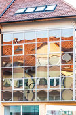 Distorted reflection of the house — Stock Photo