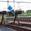 Stock Photo: End of the line of railway