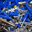 Heap of screws — Stock Photo