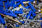 Heap of screws — Stock fotografie