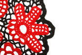 Knitted flower — Stock Photo