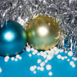 Tinsel with toys - Stock Photo