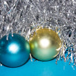 Stock Photo: Tinsel with toys