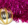 Tinsel with toys — Stock Photo