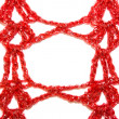 Stock Photo: Red knitted frame