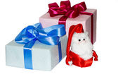 Santa Claus with gifts — Fotografia Stock
