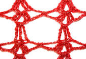 Red knitted frame — Stock fotografie