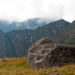 Stock Photo: Machu Pichu - Ceremonial Stone at Guardhouse