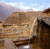 Ollantaytambo - a Fountain — Stock Photo