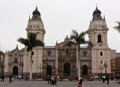 Cathedral of St. John the Apostle and Evangelist, Lima Peru — Stock Photo
