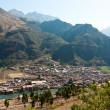 Pisac, Peru, on the Urubamba River — Stock Photo