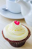 Vanilj cupcake — Stockfoto