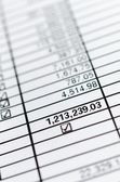 Number in paper chart — Stock Photo