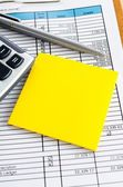 Yellow paper notes — Stock Photo