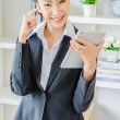 Young business woman use tablet — Stock Photo