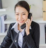 Young business women calling — Stock Photo