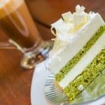 White chocolate cake — Stock Photo