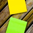 Color paper note — Stock Photo