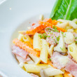 Penne ham white cream sauce — Stock Photo