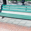 Bench on the street — Stock Photo