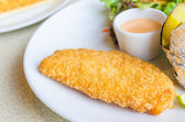 Fried Fish Steak — Stock Photo