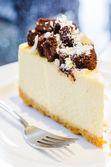 Brownie cheesecake — Stock Photo
