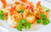 Prawn garlic shrimp — Stock Photo