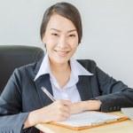 zakelijke vrouwen glimlach — Stockfoto