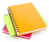 Stack of ring binder book and notebook — Stock Photo
