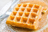 Honey Waffle — Stock Photo