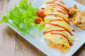Rice warpped egg — Stock Photo