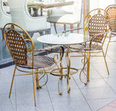 Chair and Table outdoor — Stock Photo