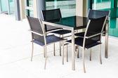 Mesa e cadeira — Fotografia Stock