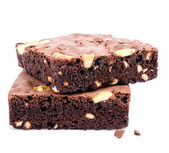 Brownie almond — Stock Photo