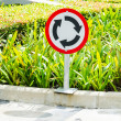 Traffic circle sign — Stock Photo #34754013
