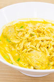 Thai Noodle Curry Soup — Stockfoto