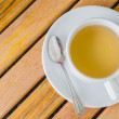 Tea on the wood table — Stock Photo