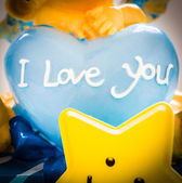 Heart with I love you words — Stock Photo
